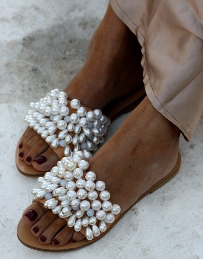 Ultra luxe Pearl studded slides